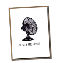 Load image into Gallery viewer, Totally Fan-tastic! Classic Linen Series Greeting Card- Blank Inside