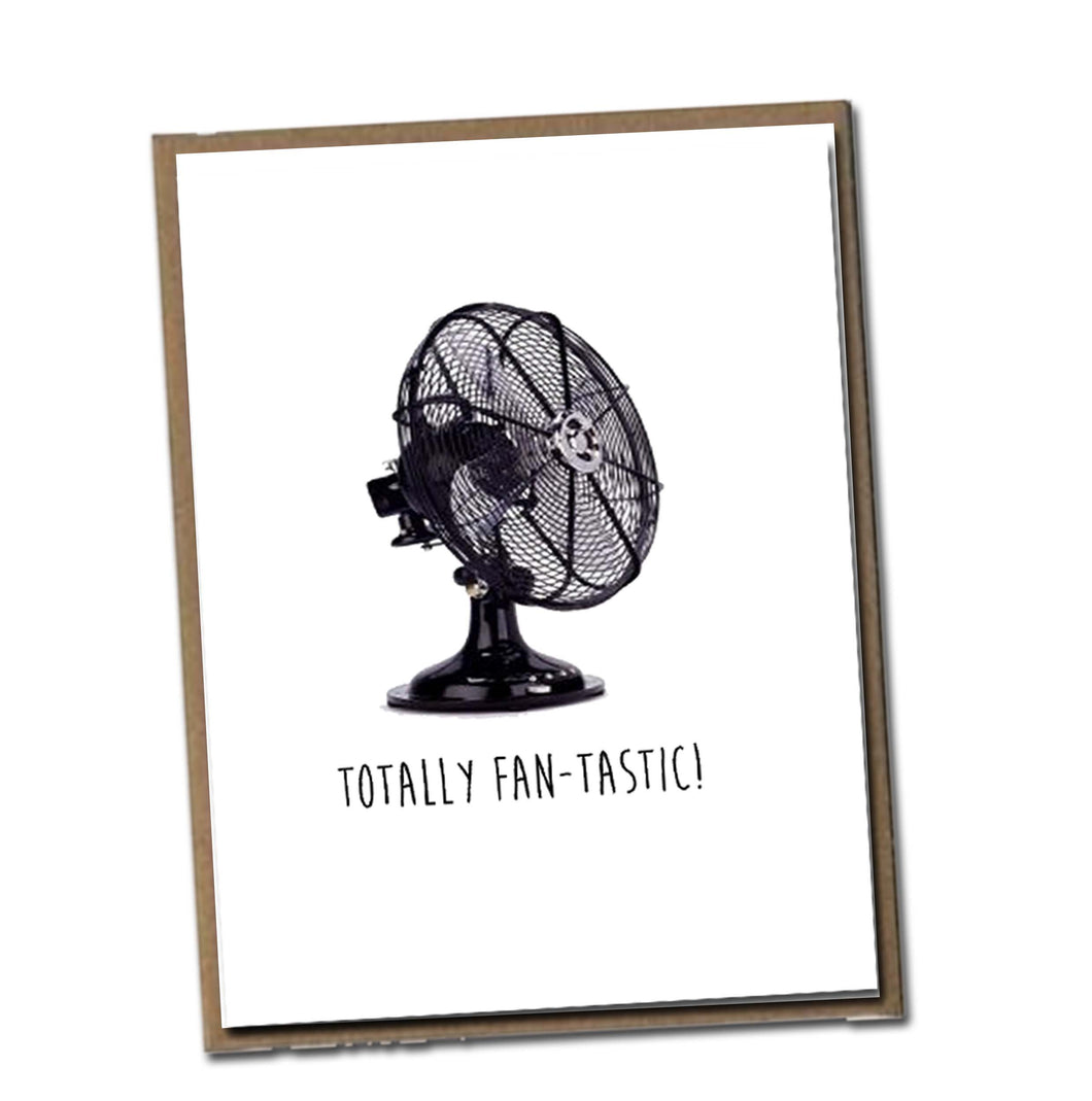 Totally Fan-tastic! Classic Linen Series Greeting Card- Blank Inside