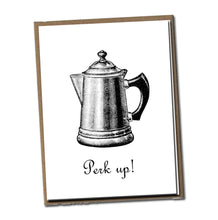 Load image into Gallery viewer, Perk up! Classic Linen Series Greeting Card- Friendship Card