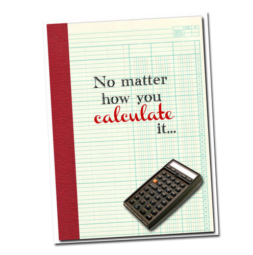 No matter how you calculate it, it adds up to another BIRTHDAY. Grammar themed Birthday card.
