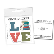 "Load image into Gallery viewer, Clever Canines Read Books- 3"" vinyl Sticker"