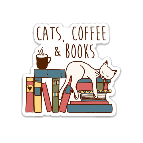 Cats, Coffee & Books- 3