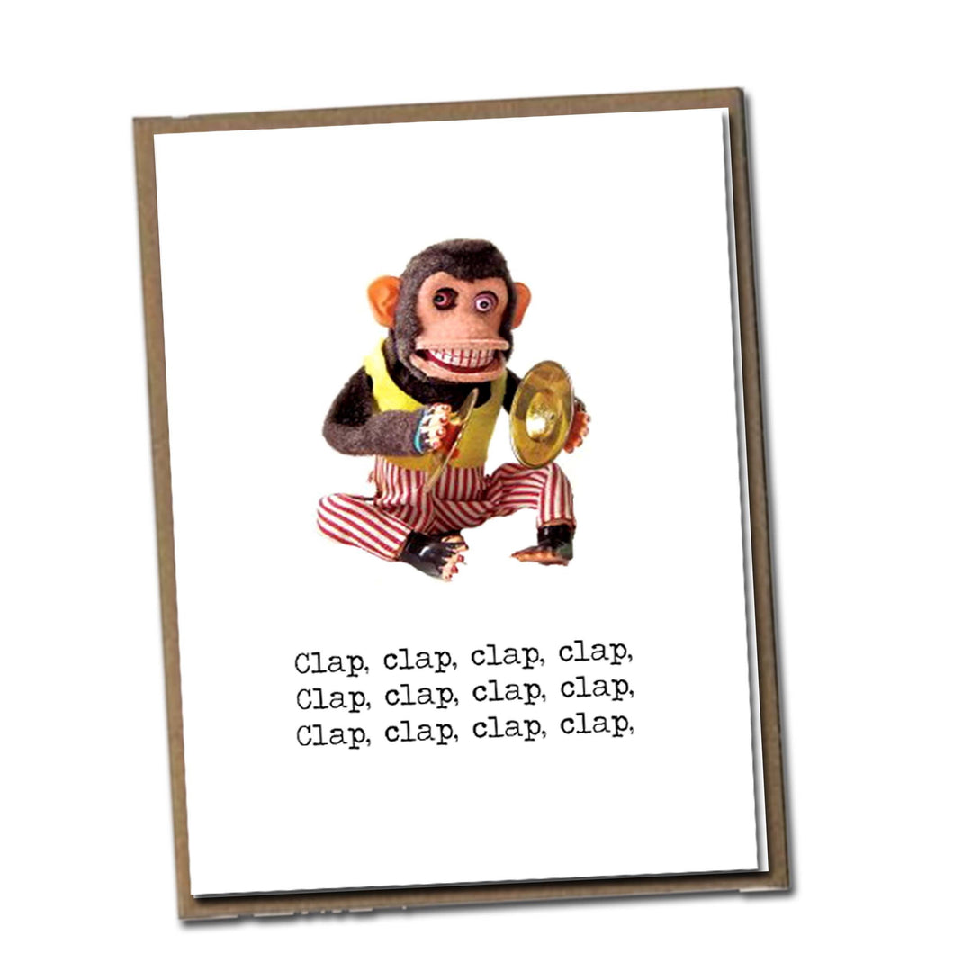 Clap, clap, clap, clap. Classic Linen Series Greeting Card- Birthday Card