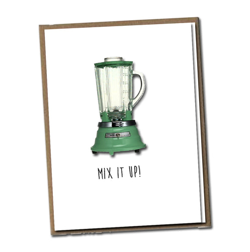 Mix it up! Classic Linen Series Greeting Card- Birthday Card