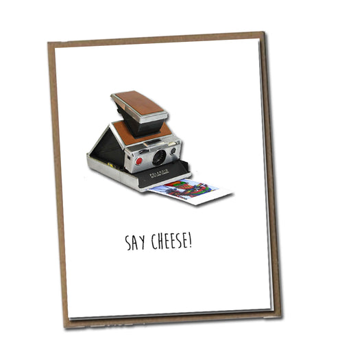 Say cheese! Classic Linen Series Greeting Card- Birthday Card
