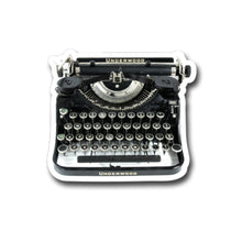 "Load image into Gallery viewer, Underwood  Vintage Typewriter- 3"" vinyl Sticker"
