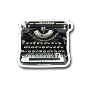 "Underwood  Vintage Typewriter- 3"" vinyl Sticker"