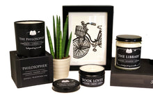 Load image into Gallery viewer, The Philosopher 6oz Tin Soy Candle - Cinnamon + Leather + Amber
