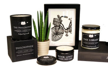 Load image into Gallery viewer, Jane Austen - 6oz Tin Soy Candle - Citrus + Juniper + Vetiver