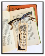 Load image into Gallery viewer, A Book is like an ipad, but made of trees -Wooden Birch Bookmark