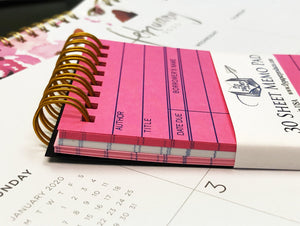 Pink Library Card  30 sheet Memo Pad
