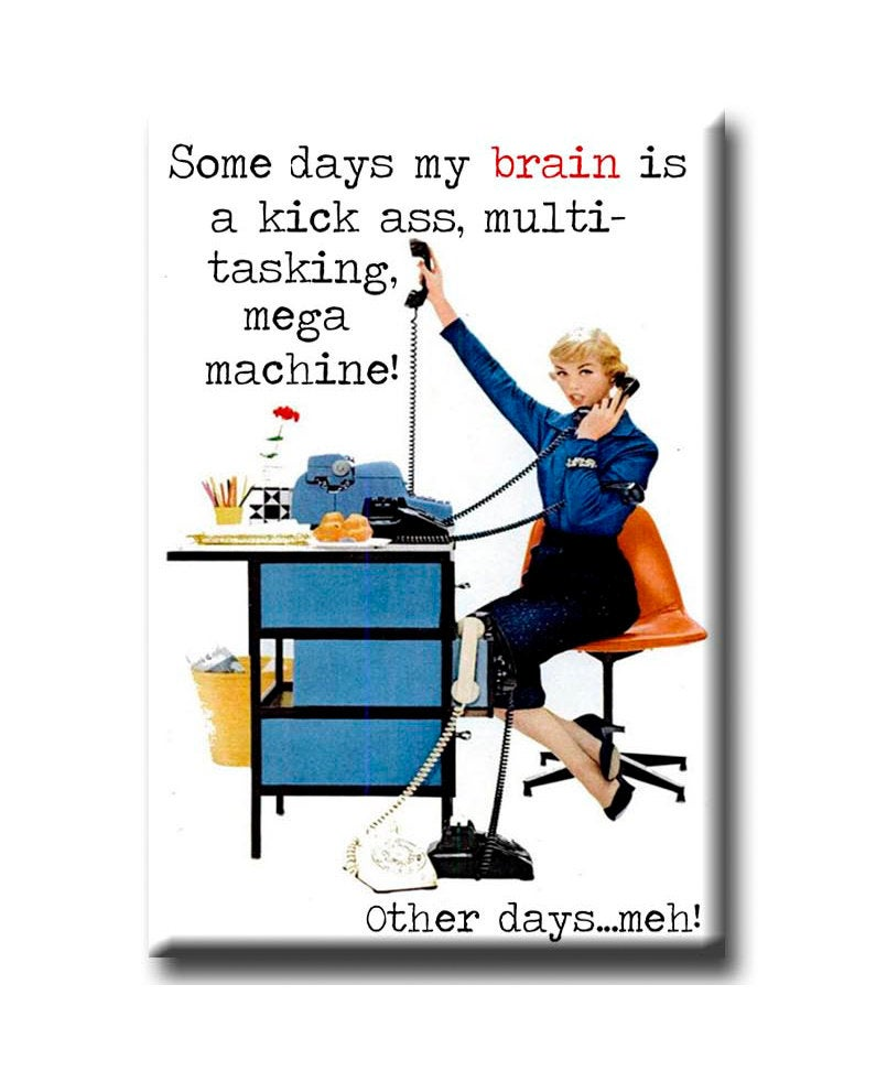 Some Days My Brain is a Kick....  FRIDGE MAGNET