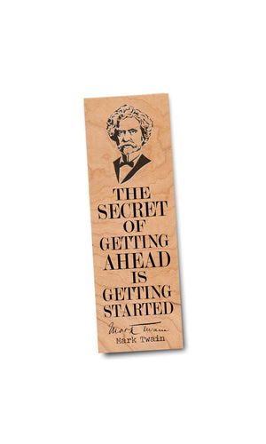 Mark Twain Bookmark- Birch Wood Bookmark