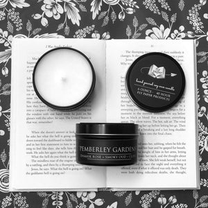 Pemberley Gardens - 6oz Tin Soy Candle - Rose + Oud + Clove