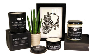 The Philosopher - Cinnamon + Leather + Amber - 9oz Hand Poured Literary Soy Candle