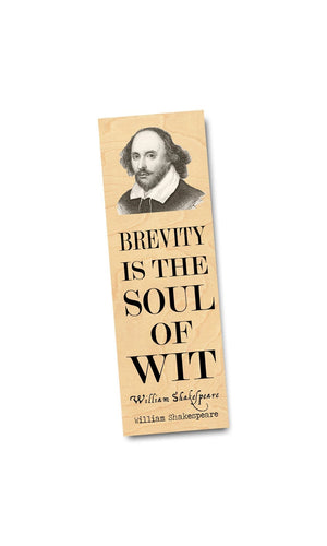 William Shakespeare Wood Bookmark