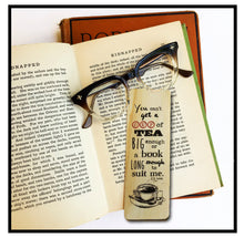 Load image into Gallery viewer, You can't get a tea big enough or a book long enough to suit me. C.S. Lewis- Wooden Ash Bookmark