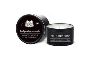 The Museum - 6oz Tin Soy Candle- Aldehyes + marine notes +Amber
