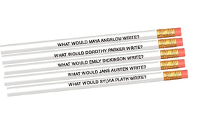 Set of 5 Famous Female Author Inspiration Pencils