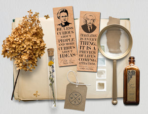 Imagination is everything. It is a preview of life's coming attractions. -Albert Einstein - Wood Bookmark