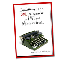 Load image into Gallery viewer, Sometimes it is OK to tear a page out and start fresh - Vintage Typewriter series - Blank Card-Inspirational Card -Wisdom -Quote -Friendship
