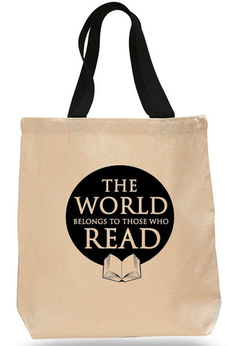 The World Belongs to Those Who Read-  Cotton Canvas Book Bag
