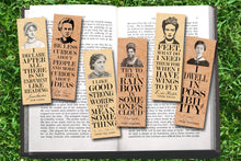 Load image into Gallery viewer, Set of 6 Famous Female Bookmark Set