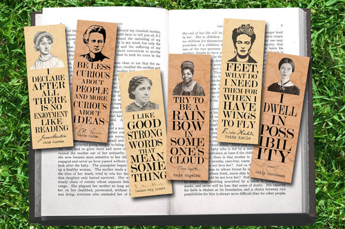 Set of 6 Famous Female Bookmark Set