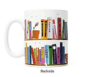Book Shelf- 11 ounce Ceramic Mug