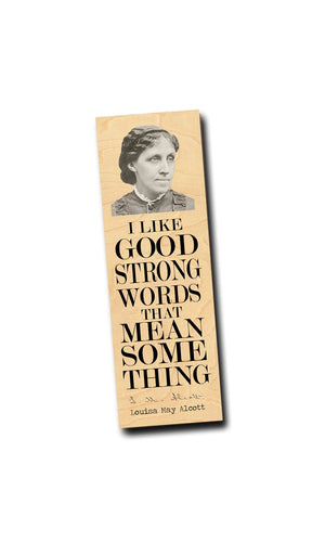Louisa May Alcott  Wood Bookmark