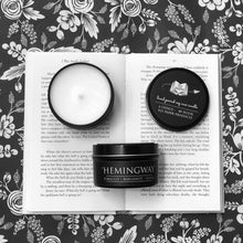Load image into Gallery viewer, Hemingway - 6oz Tin Soy Candle - Tobacco + Ylang + Bergamot