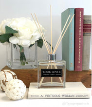 Load image into Gallery viewer, Book Lover - 7oz Reed Diffuser Set - Lavender + Lemon + Jasmine