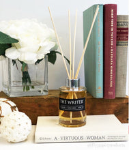 Load image into Gallery viewer, The Writer - 4oz Reed Diffuser Set- Amber + Balsam + Fresh Spices