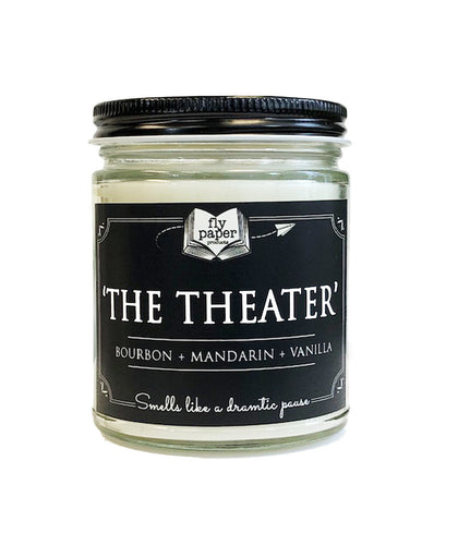 The Theater 9oz Soy Candle - Bourbon + Mandarin + Vanilla
