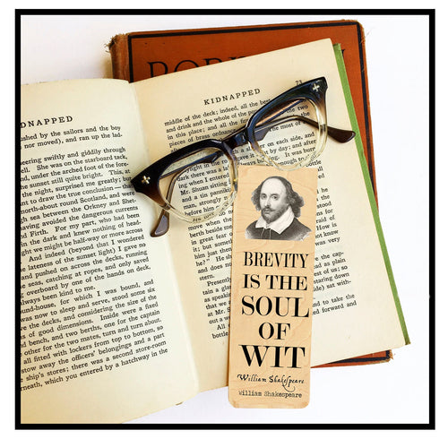 William Shakespeare Wood Bookmark - Eco Friendly - Literary Gift - Gifts for Book Lovers  - Classic Literature - Poet - Writer- Theater
