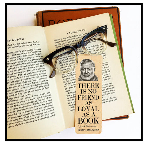 Ernest Hemingway Bookmark  Wood Bookmark - Eco Friendly - Literary Gift - Gifts for Book Lovers - Classic Literature - Famous Male Author