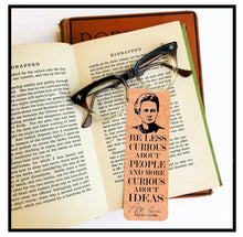 Load image into Gallery viewer, Marie Curie Cherry Wood Bookmark