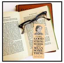 Load image into Gallery viewer, Louisa May Alcott  Wood Bookmark