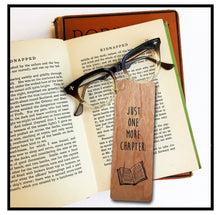 Load image into Gallery viewer, Just one more chapter- Wooden Cherry Bookmark