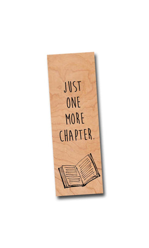 Just one more chapter- Wooden Cherry Bookmark