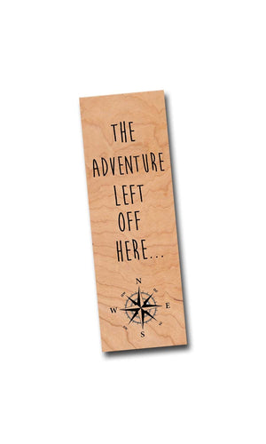 The adventure left off here - Wooden Cherry Bookmark