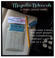 Load image into Gallery viewer, Magnetic Memo Vintage Library Book Cards + 25 Assorted Replacement Library Card Set