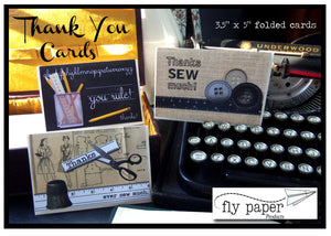THANK YOU-vintage typewriter- Boxed Thank You Cards