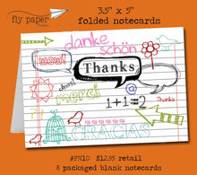 Load image into Gallery viewer, Thanks-Doodles and Scribbles-Index card- Boxed Thank You Cards