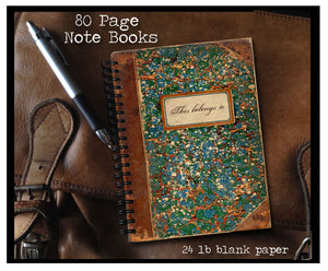 Vintage Book 'This belongs to' 80 page Note Book