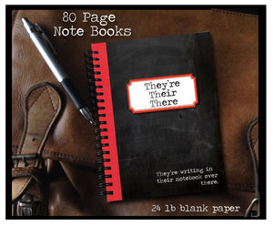 They're, Their, There 80 page Note Book