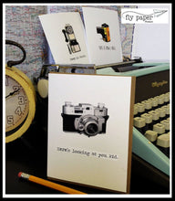 Load image into Gallery viewer, Write more. Text less. Classic Linen Series Greeting Card- Blank Inside