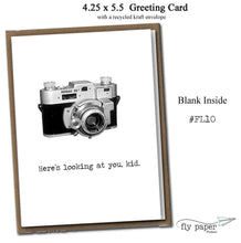 Load image into Gallery viewer, Here's looking at you, kid. Classic Linen Series Greeting Card- Blank Inside