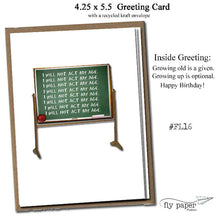 Load image into Gallery viewer, I will not act my age! Classic Linen Series Greeting Card