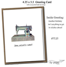 Load image into Gallery viewer, Sew...what's new? Classic Linen Series Greeting Card- Birthday Card